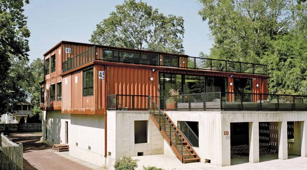 Shipping container home in Pennsylvania
