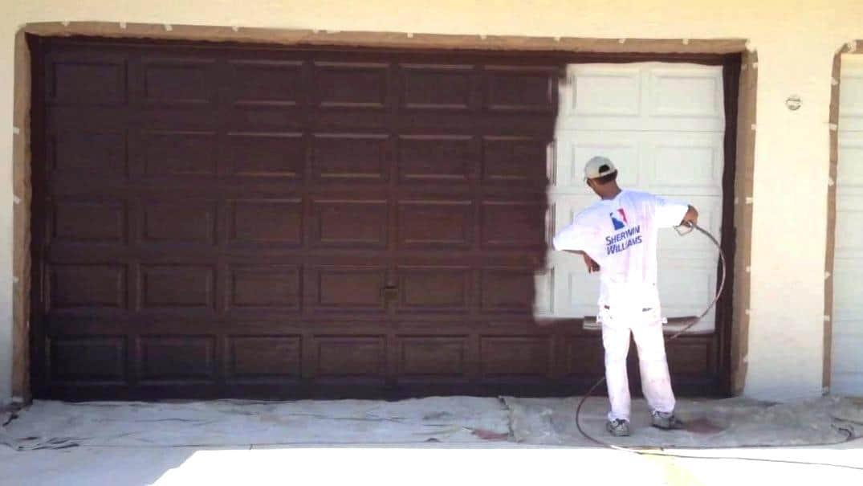 how to paint metal door