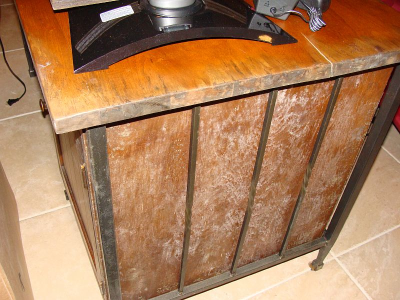 remove mold from wood furniture