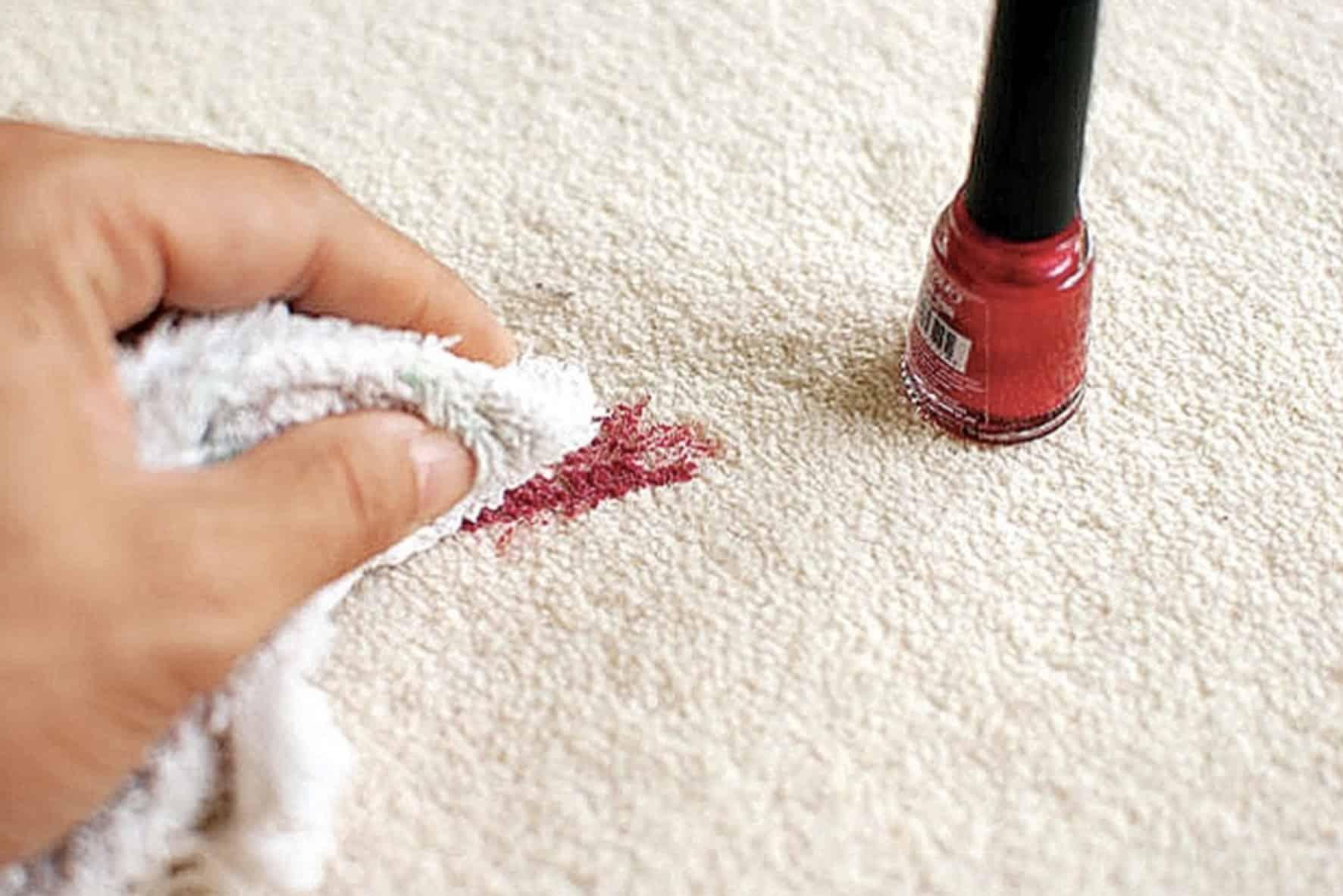 Remove Nail Polish from Carpet