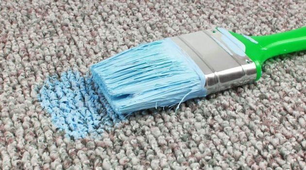 remove paint from carpet
