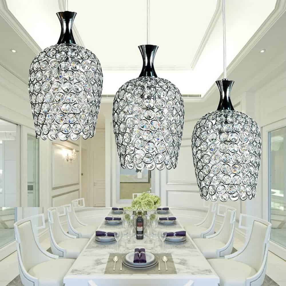 Contemporary Crystal Pendant Lamps