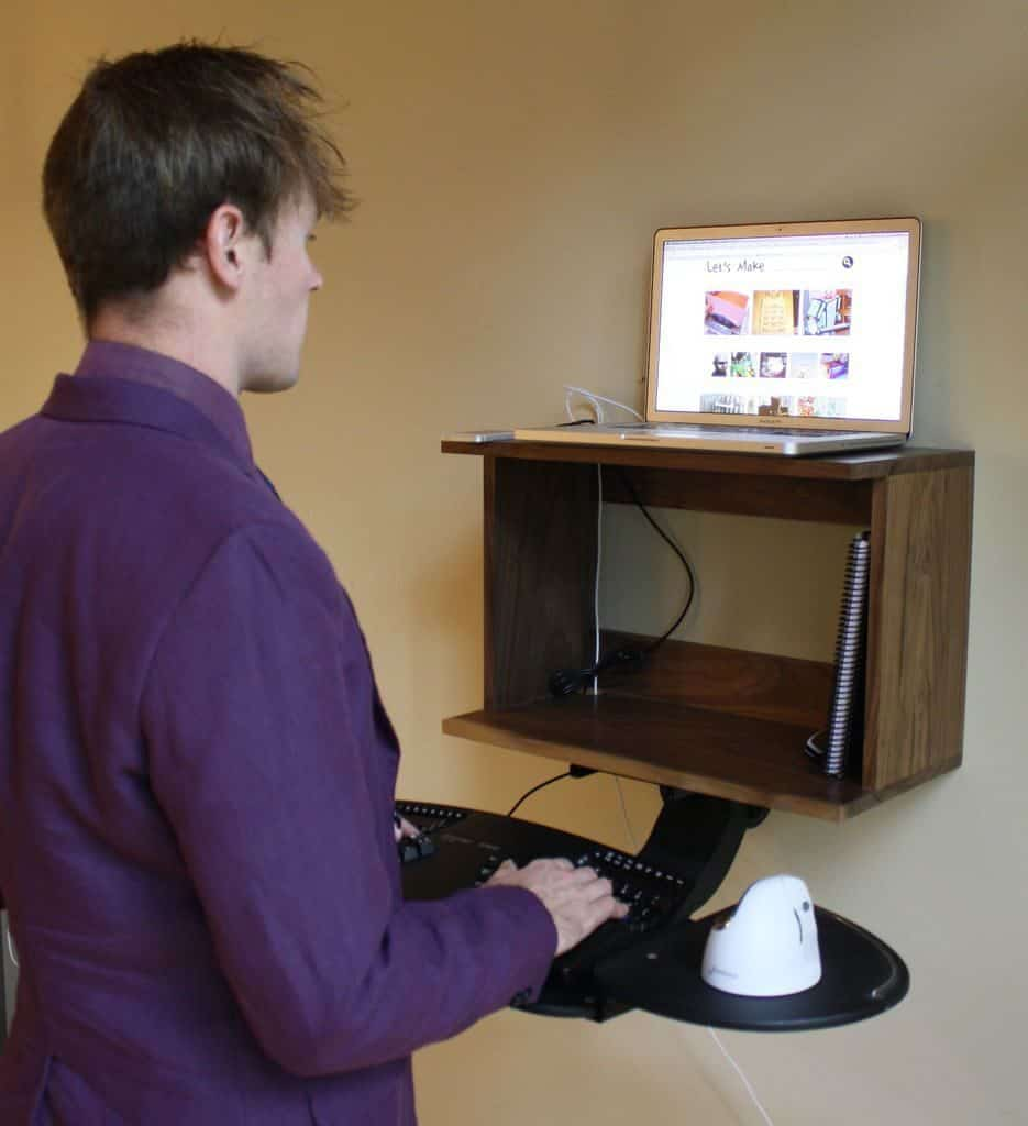 Simple Wall-Mounted Standing Desk