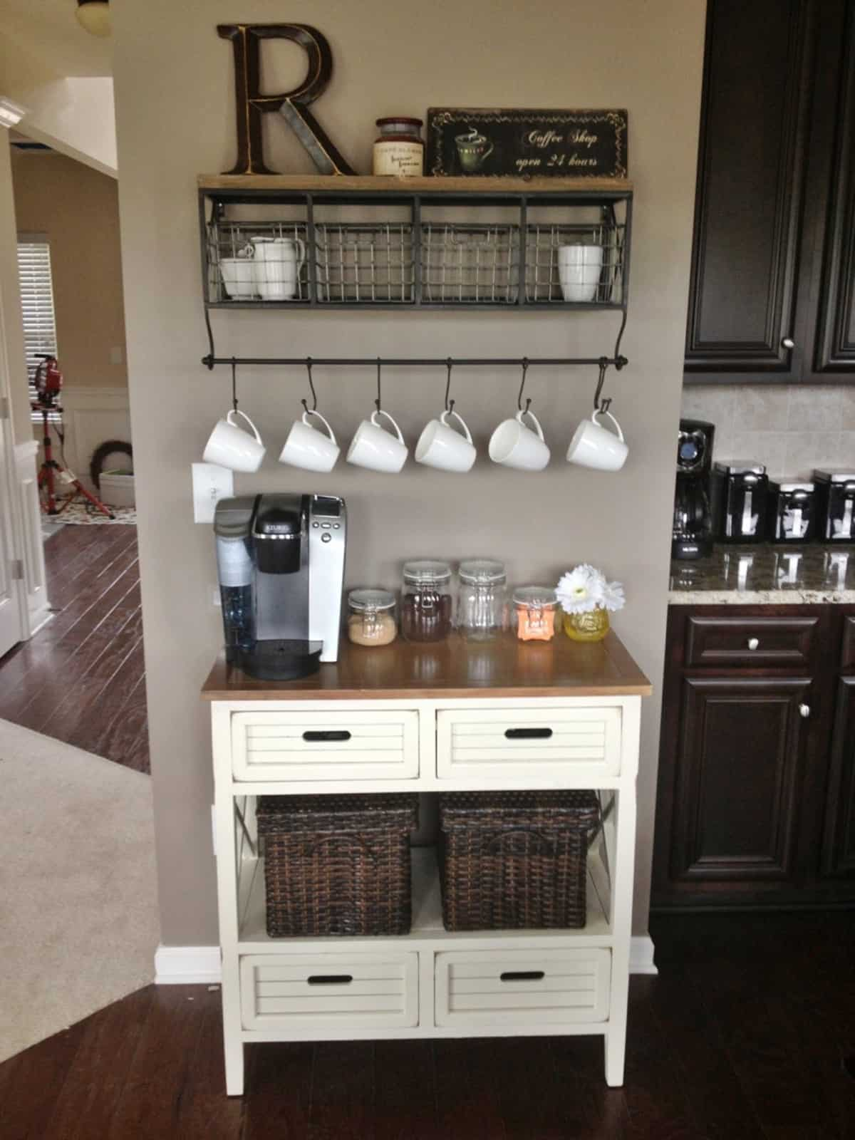 20 Coffee Station Ideas to Make Caffeine Addicts Happy