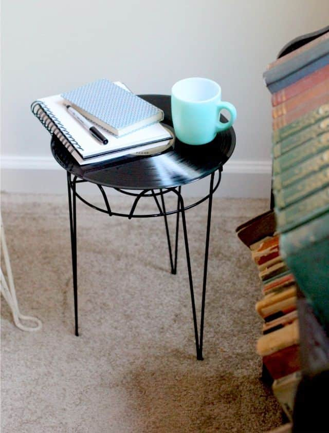 The DIY Vinyl Record Side Table