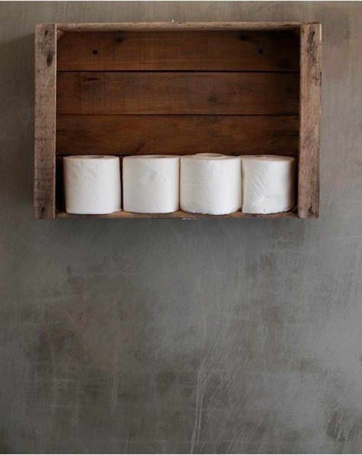 Toilet Paper Holder Crate