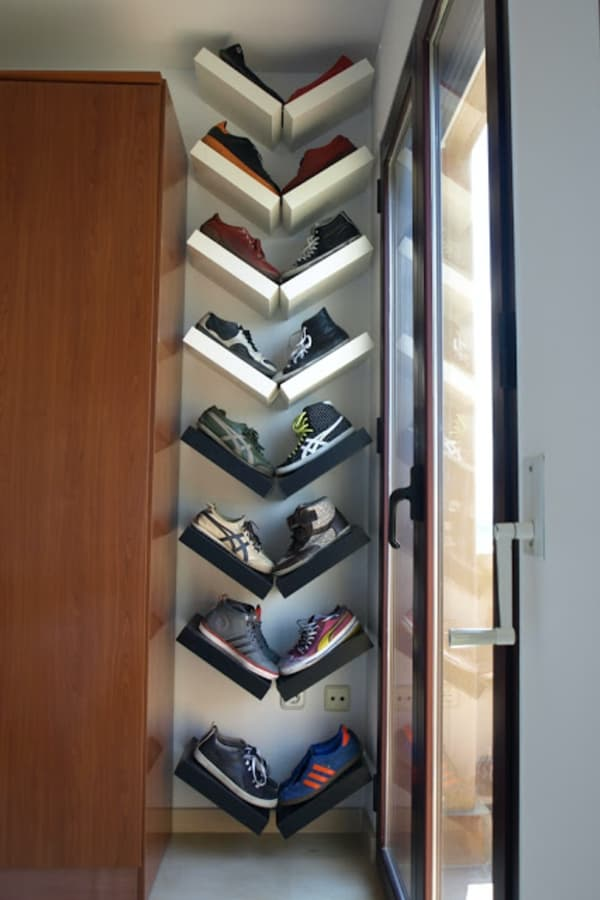 Angled Vertical Shoe Rack