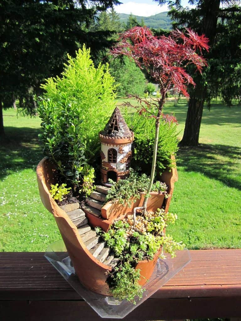 Fantastic Pot Garden with Castle