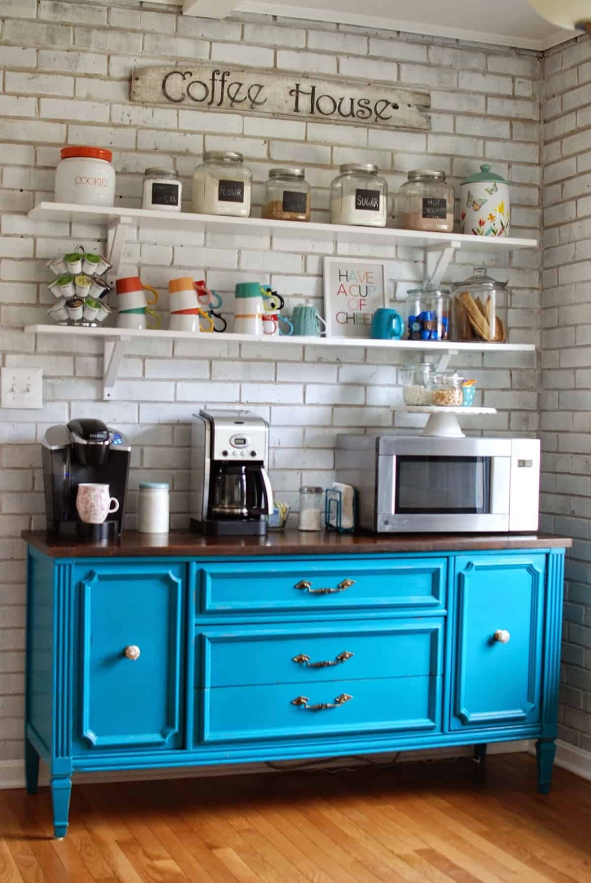 Rustic Kitchen Coffee Station