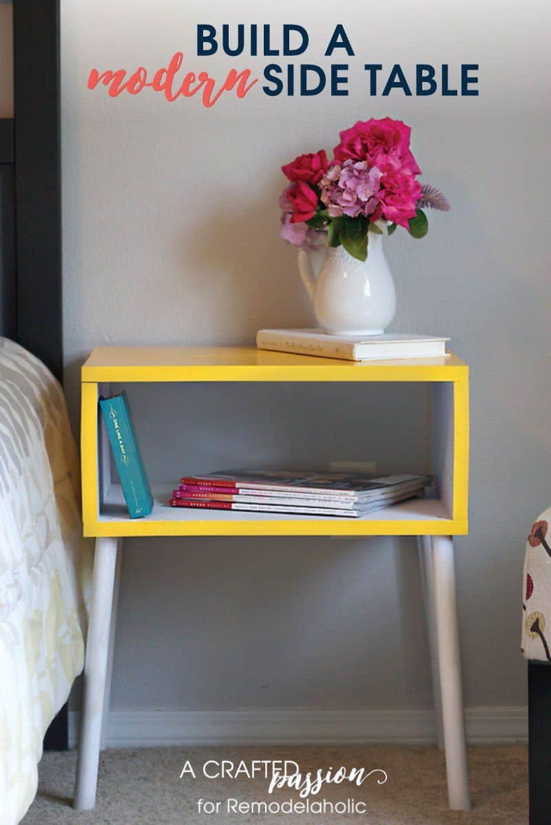 The DIY Modern Side Table