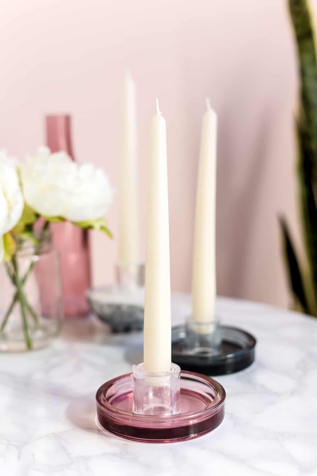 The DIY Perspex Candle Holders