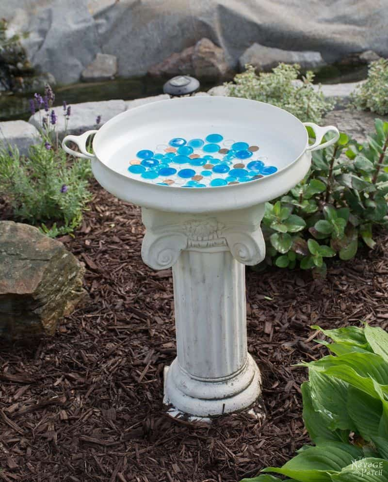 Glass Beads Hummingbird Bath