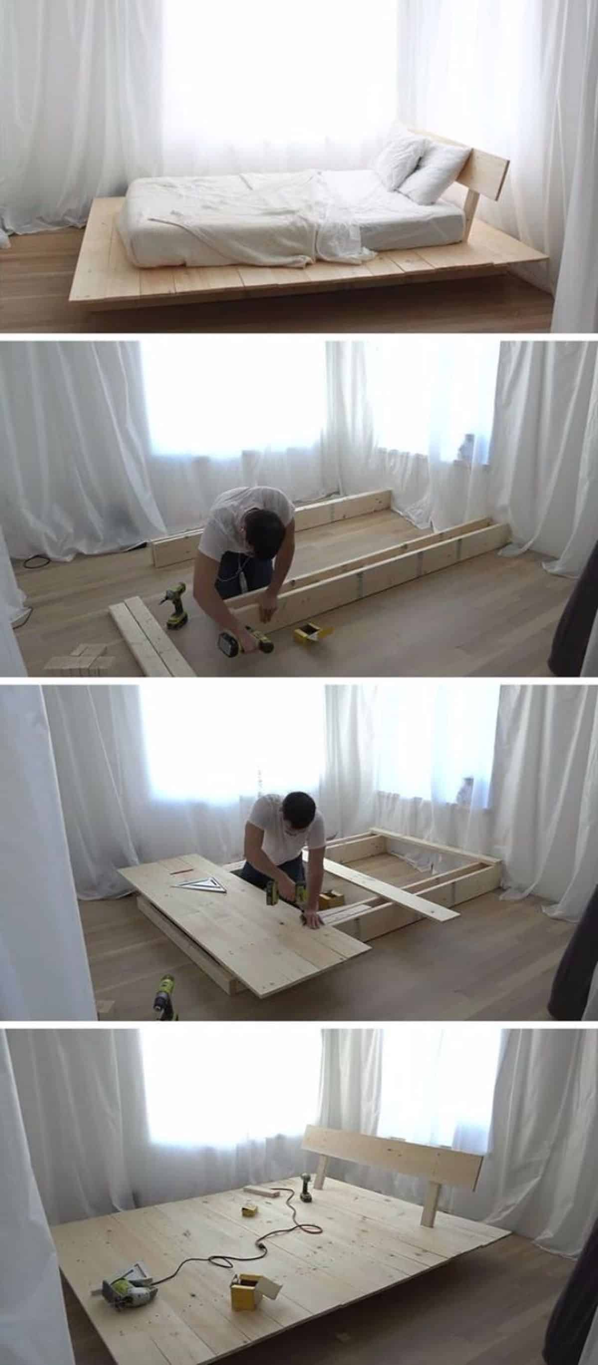 Floating Platform Bed:Daybed