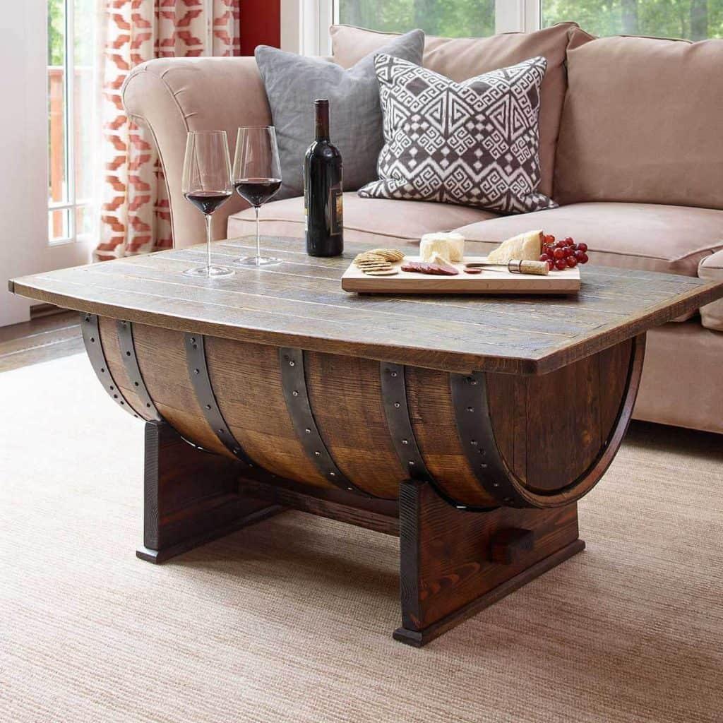 Horizontal Barrel Coffee Table