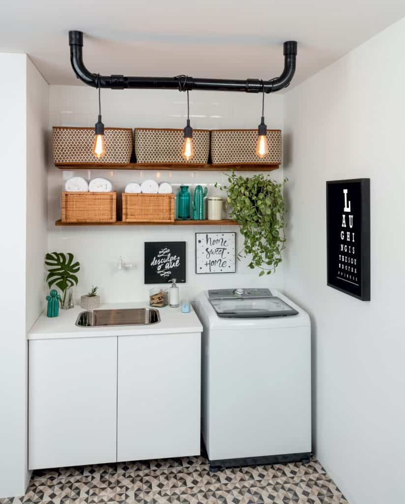 Small and Charming Laundry Room Lighting