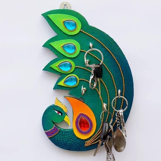 Beautiful Peacock Key Holder