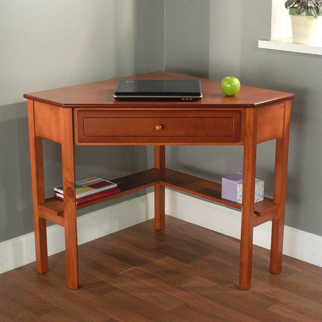 Save Your Space with This Corner Writing Desk