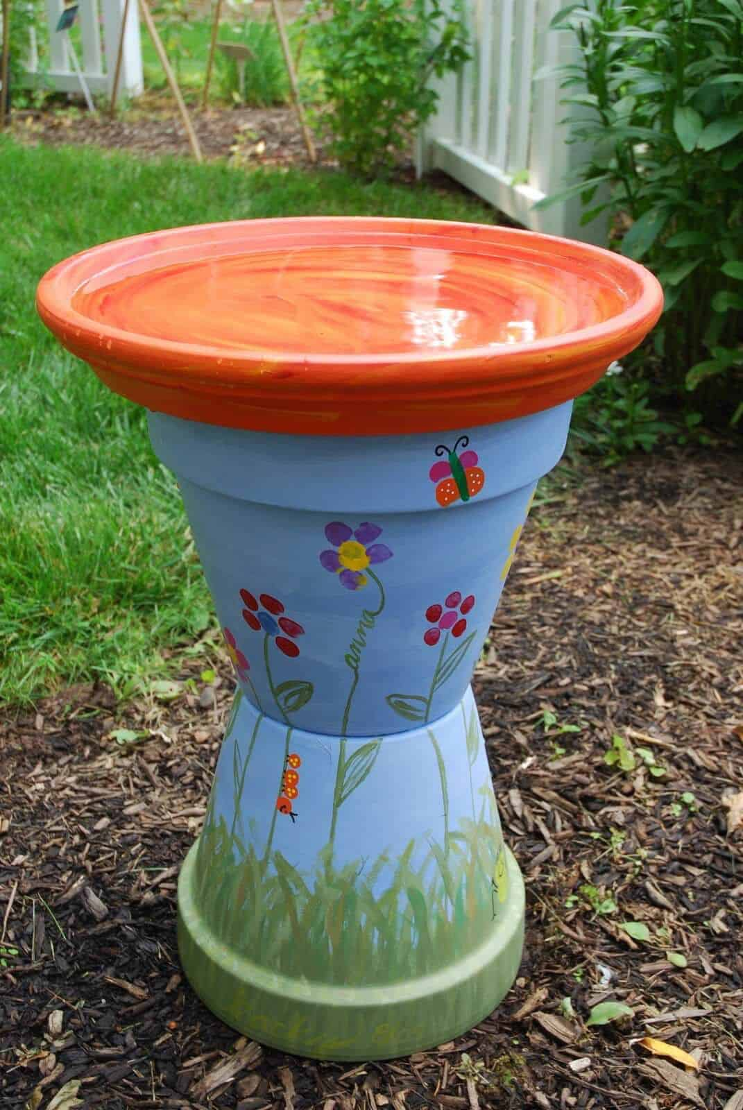 Kid-Friendly Bird Bath