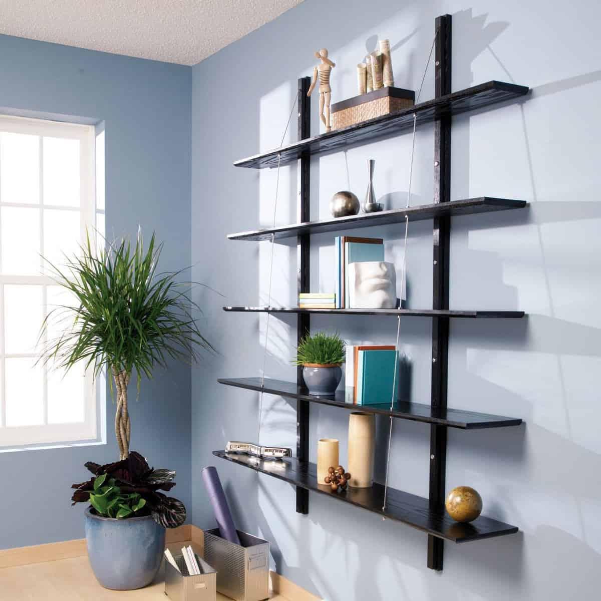 Modern, Suspended Bookshelf