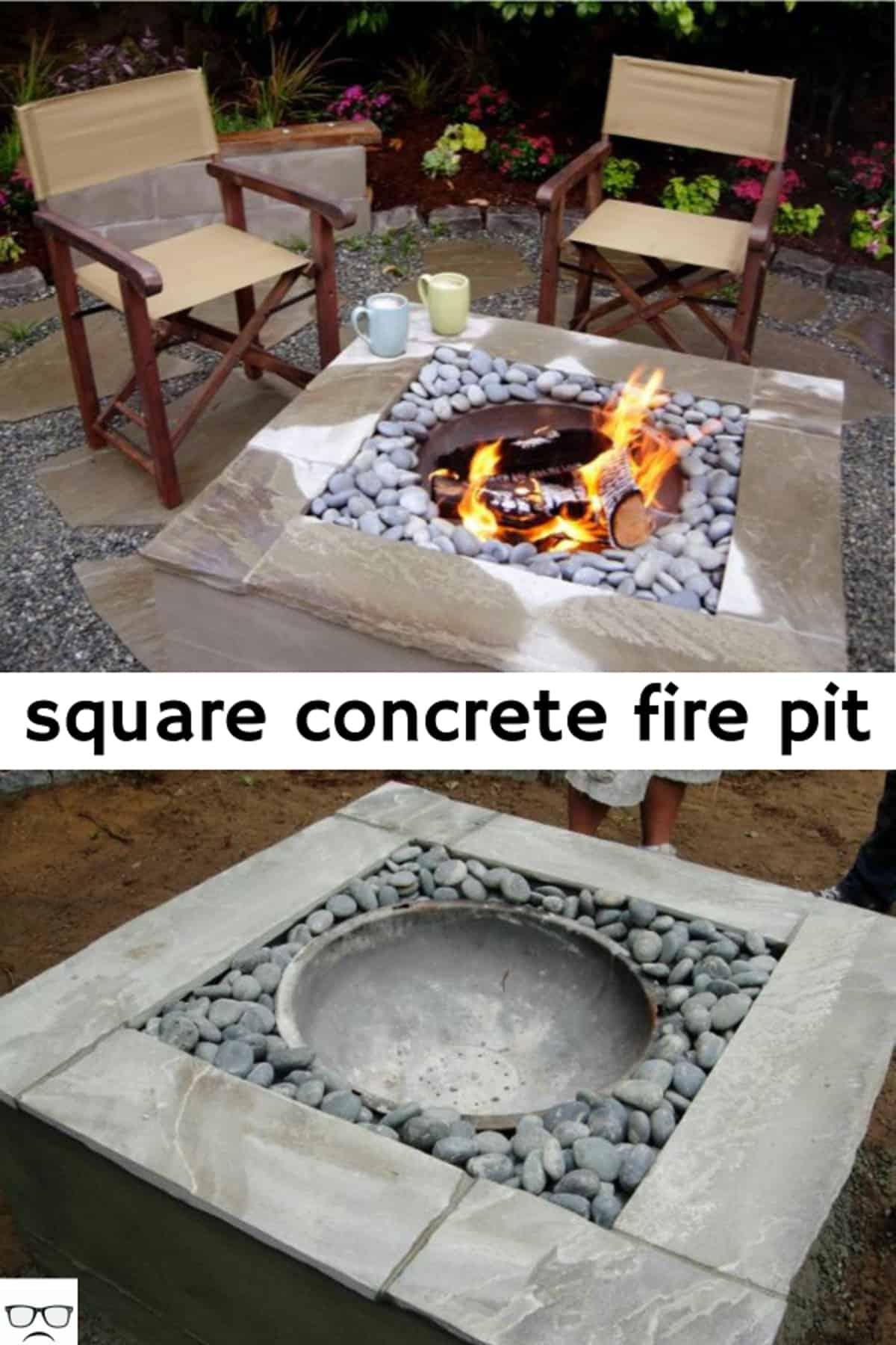 Square Concrete Fire Pit