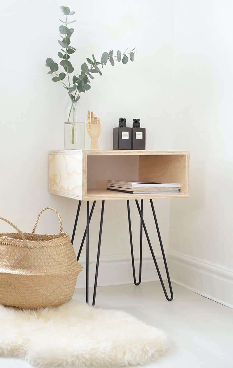 The DIY Mid-Century Side Table