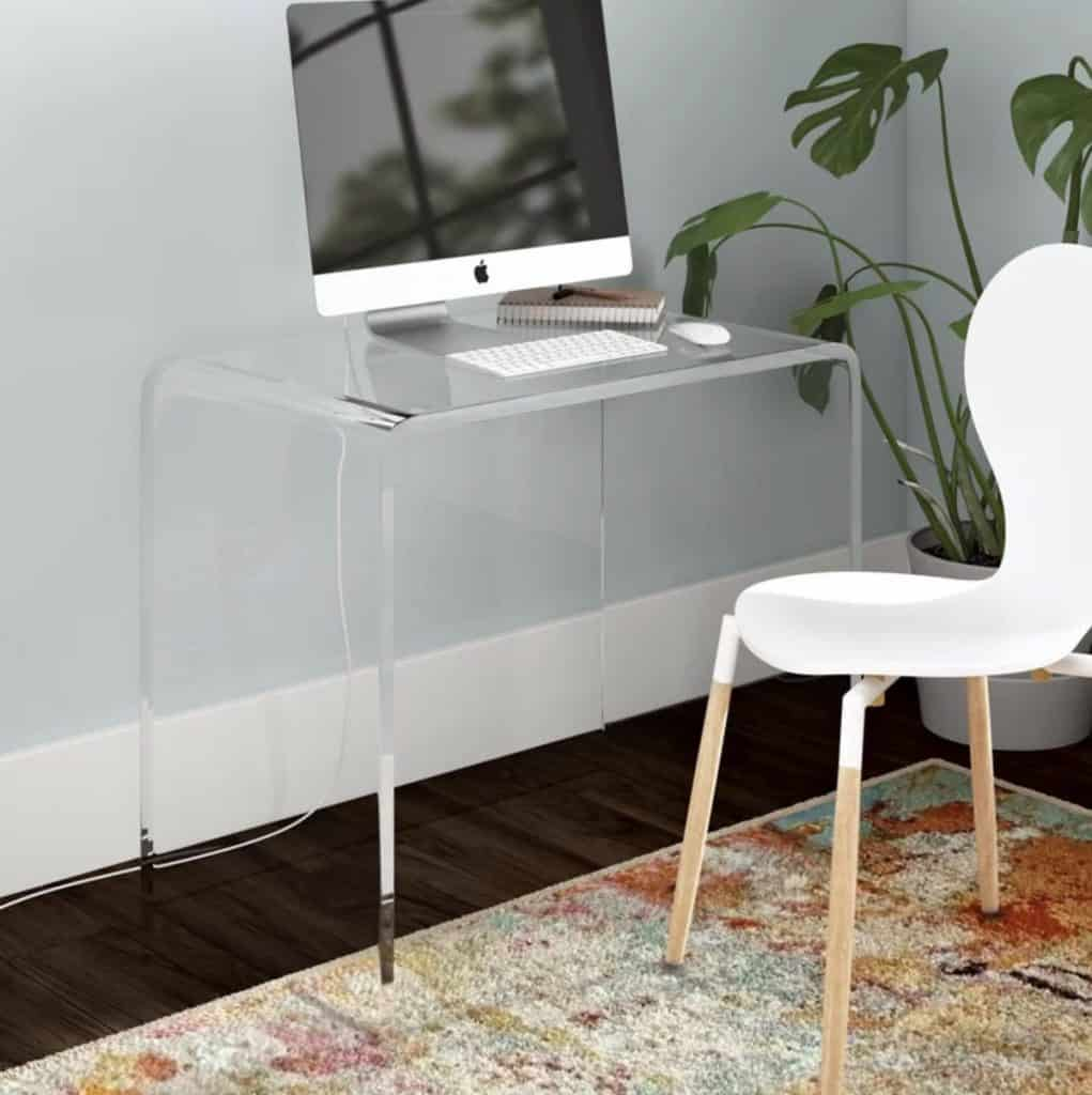Channing Acrylic Writing Desk