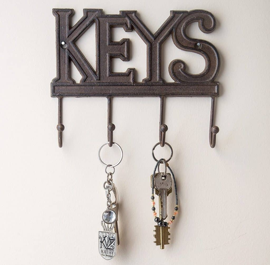 Iron Key Holder with Word Decoration