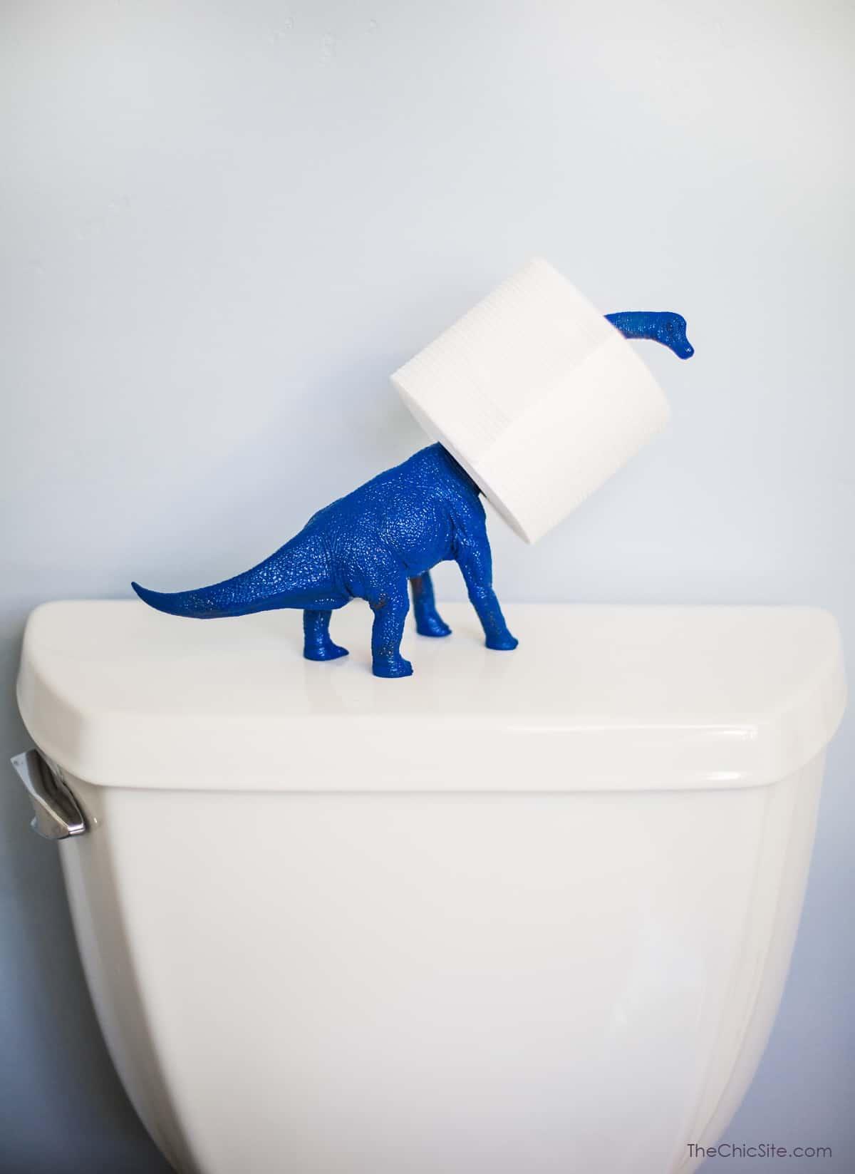 Simple Dinosaur Toilet Paper Holder