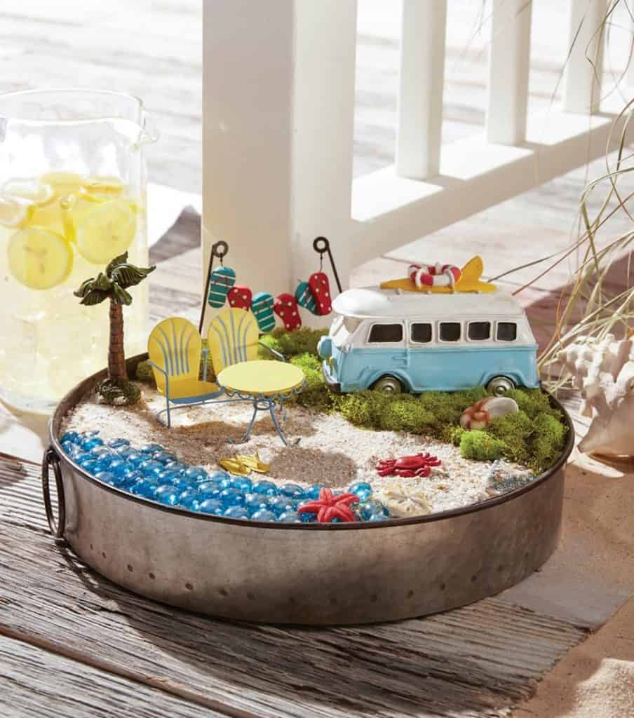 Beach-themed Garden in a Tray