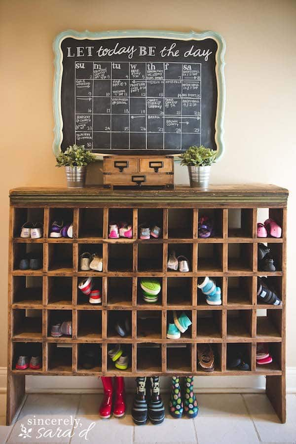 Cubby-style Shoe Storage