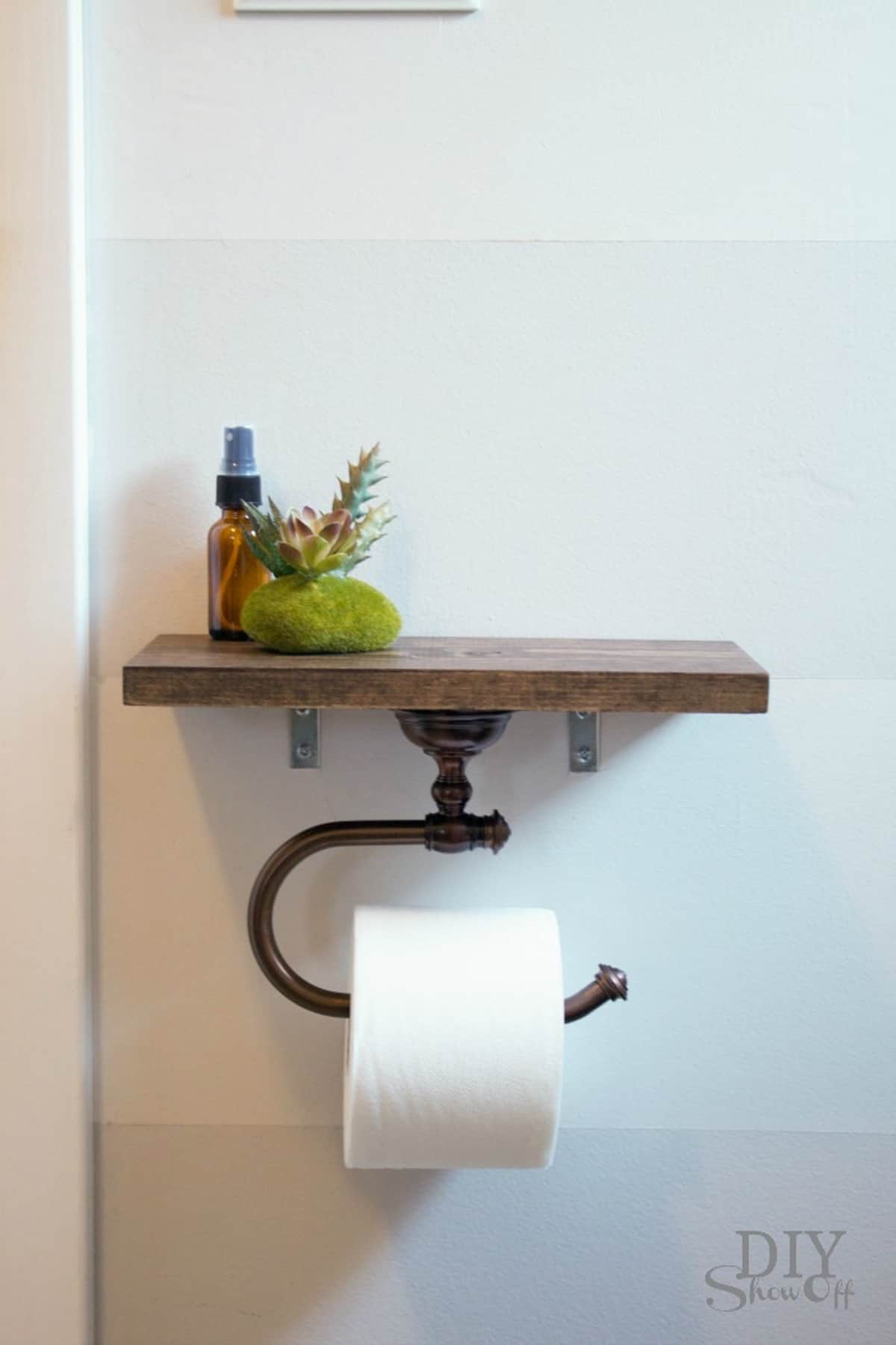 Floating Shelf Toilet Paper Holder