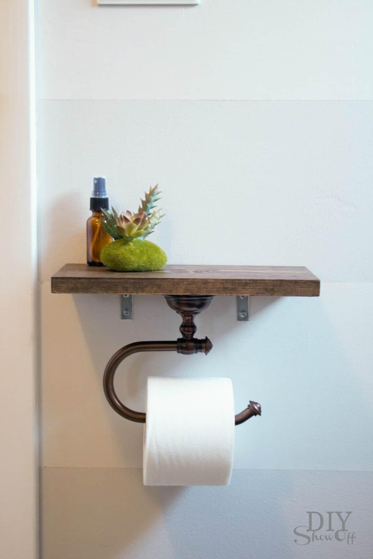 Floating Shelf Toilet Paper Holder