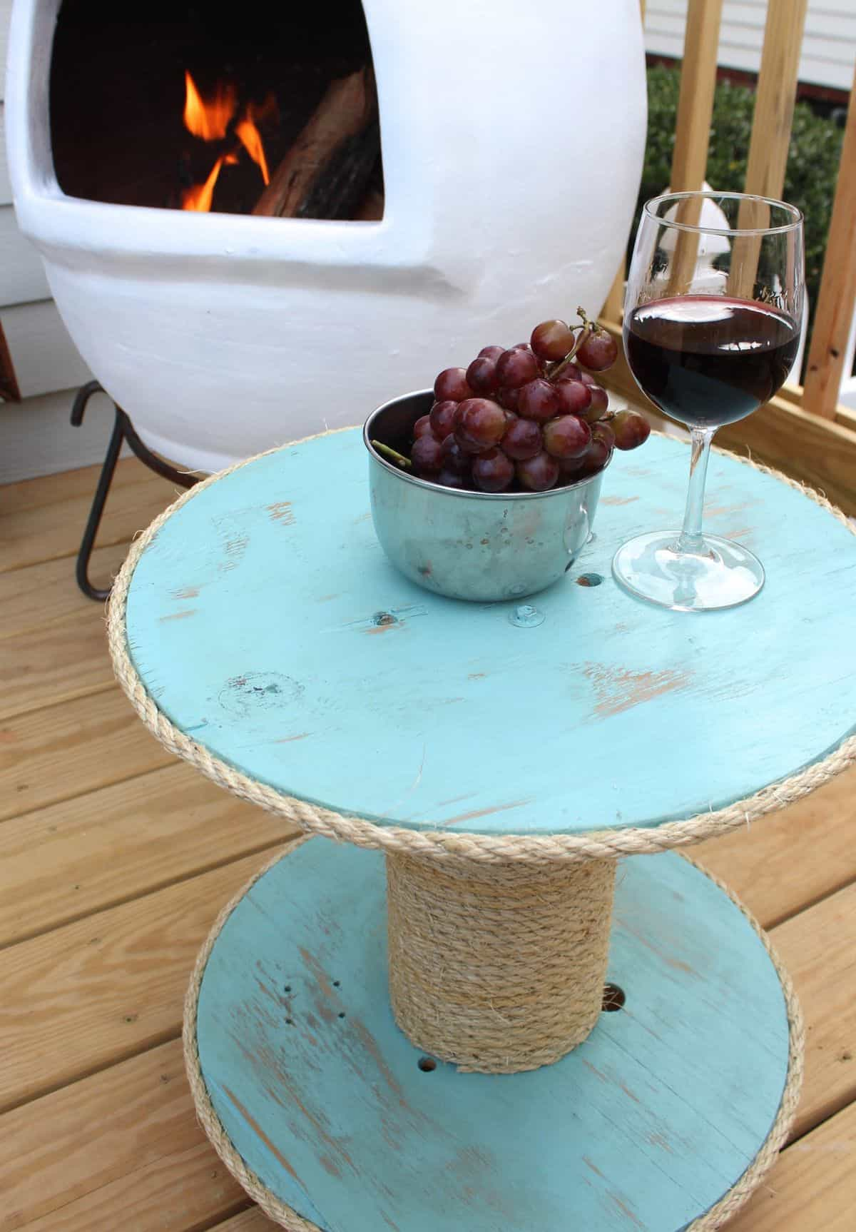 The DIY Oceanic Side Table