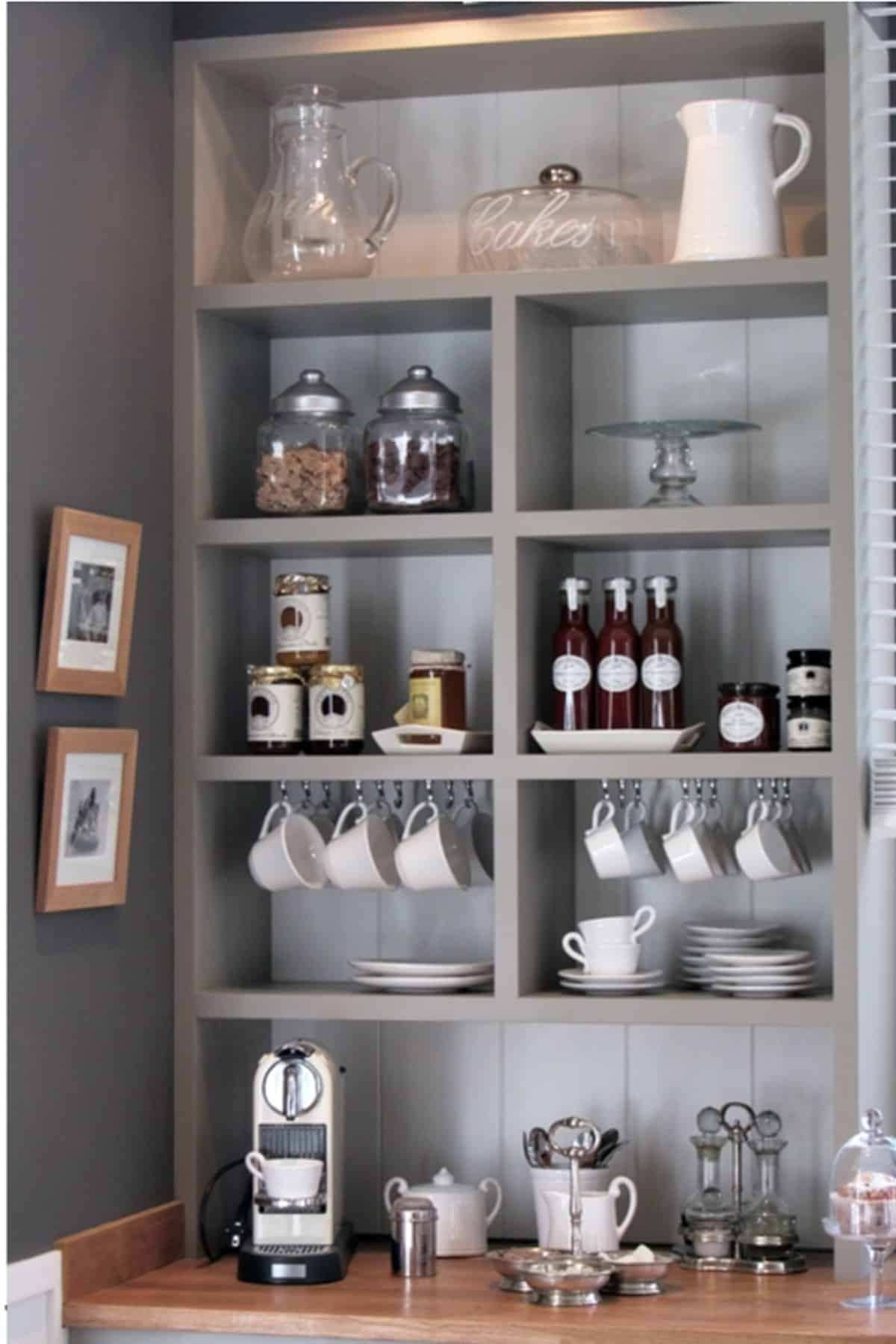 Grey Wall Coffee Organizer