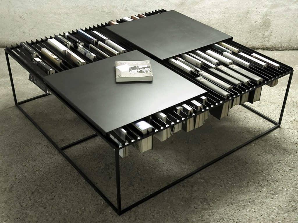Coffee Table:Bookshelves Hybrid
