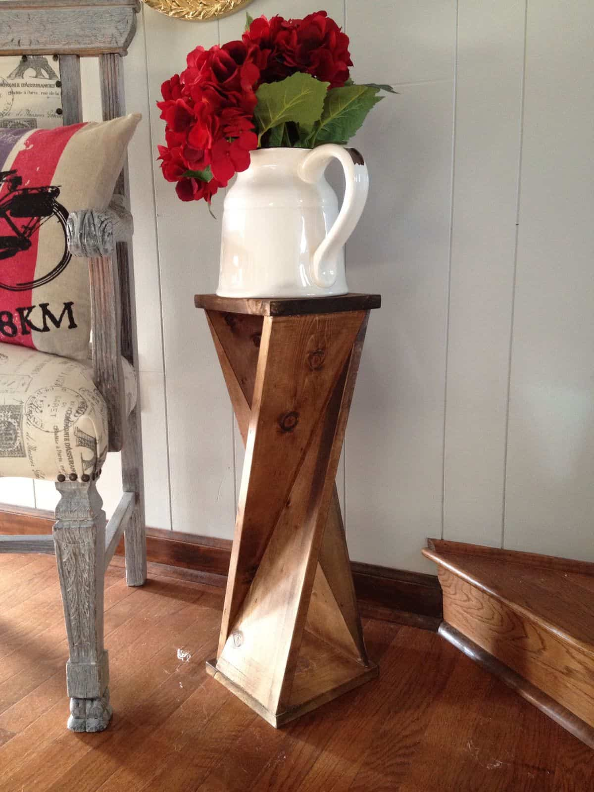 The Twisty Wooden Side Table