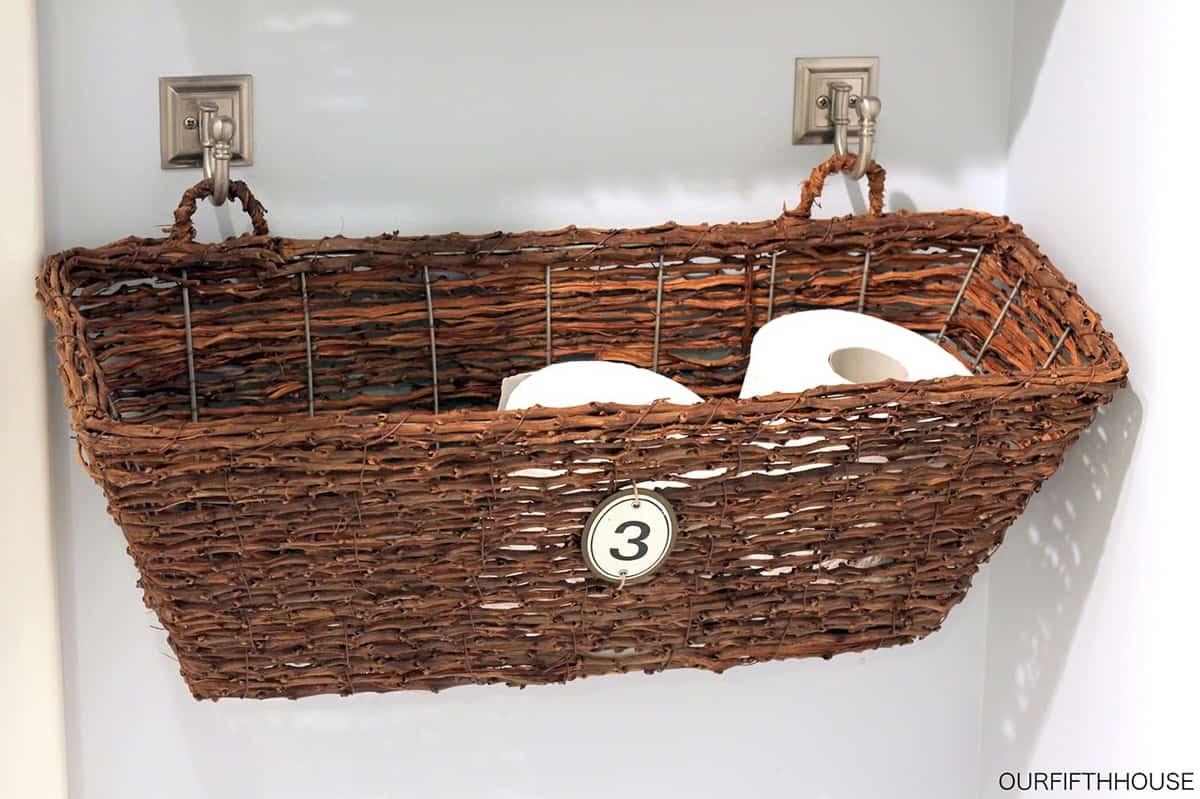 Toilet Paper Baskets on Hooks