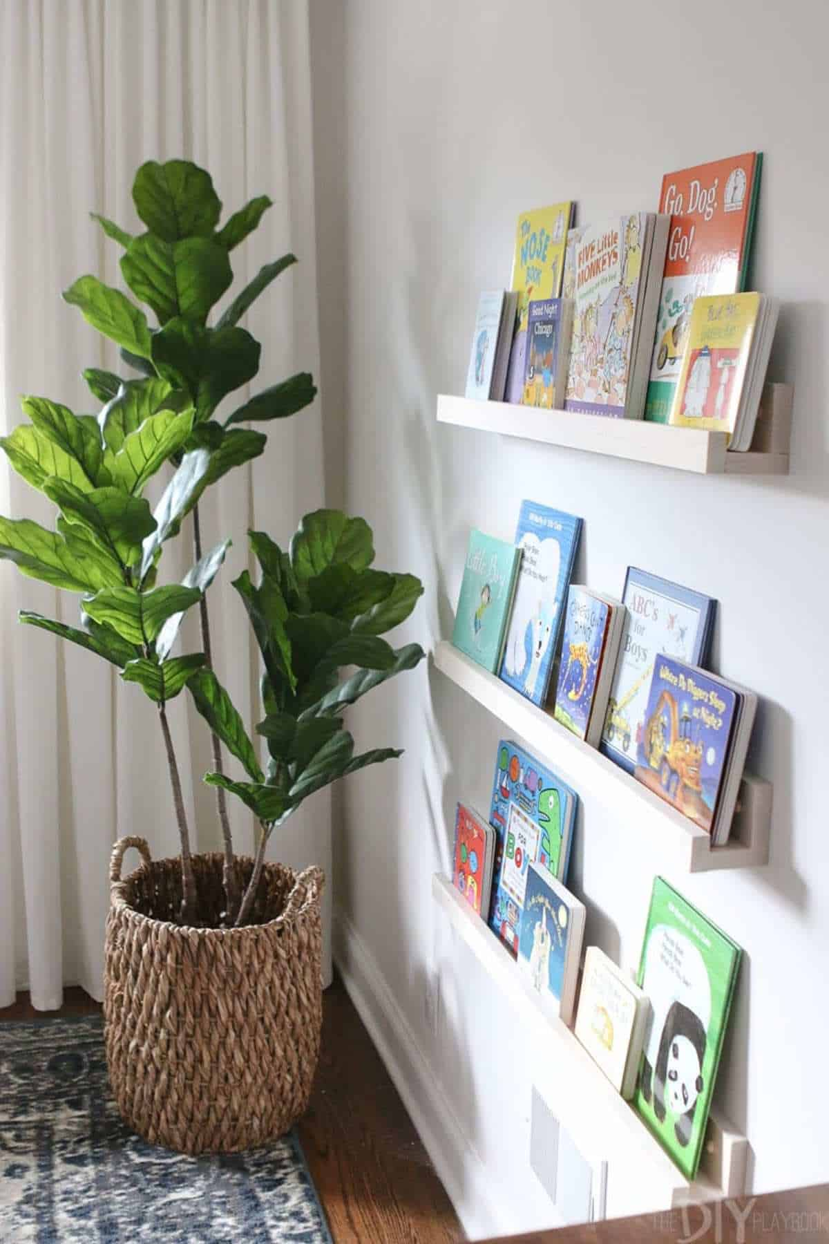 Book Ledges to Display Covers