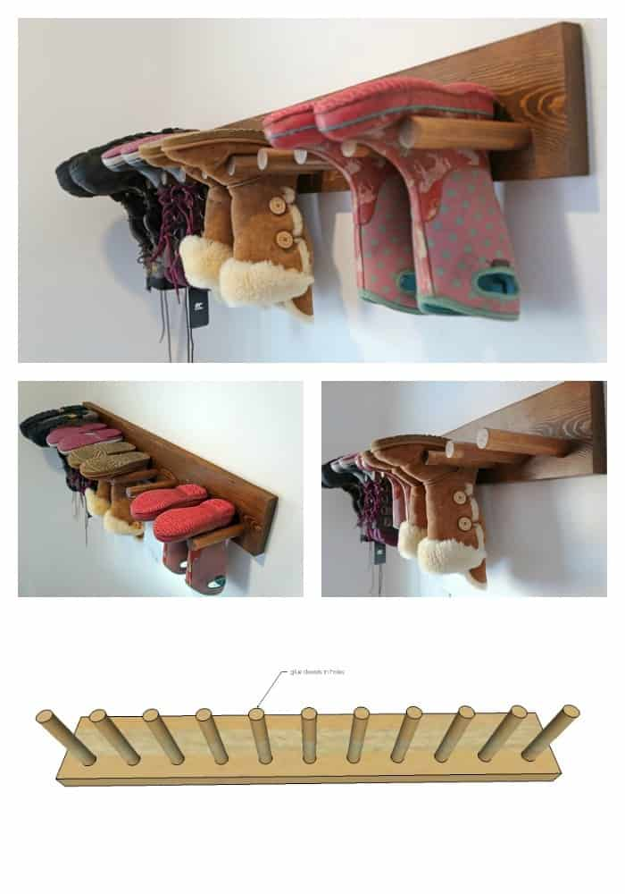Peg Shoe Rack