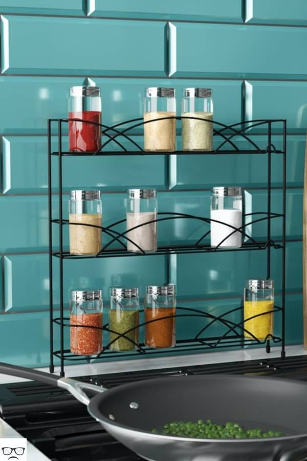 Black Metal Countertop Spice Rack