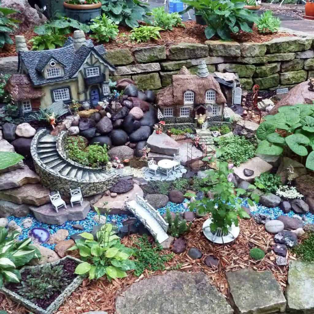Fairy Garden in Landscape Yard
