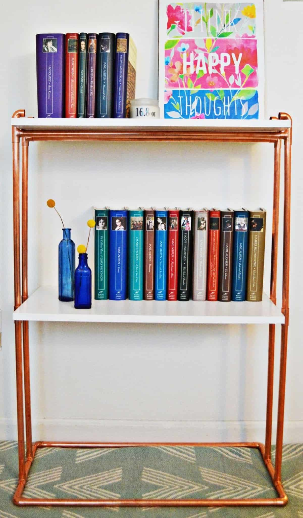 Simple Copper Bookcase
