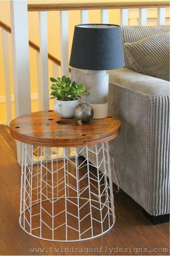 The Umbrella Basket Side Table
