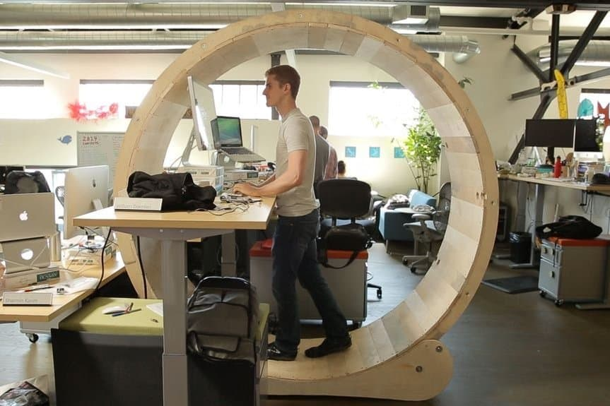 Super Cute Hamster Wheel Standing Desk