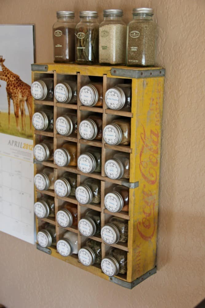 Wall Rack from Soda Crate