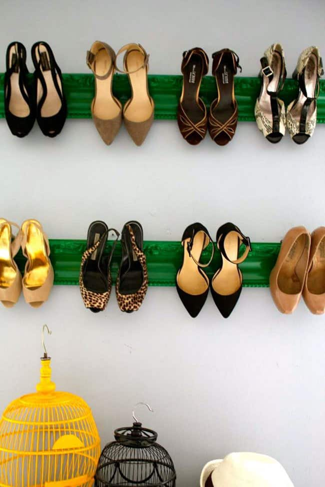 Heels Display from Picture Frame