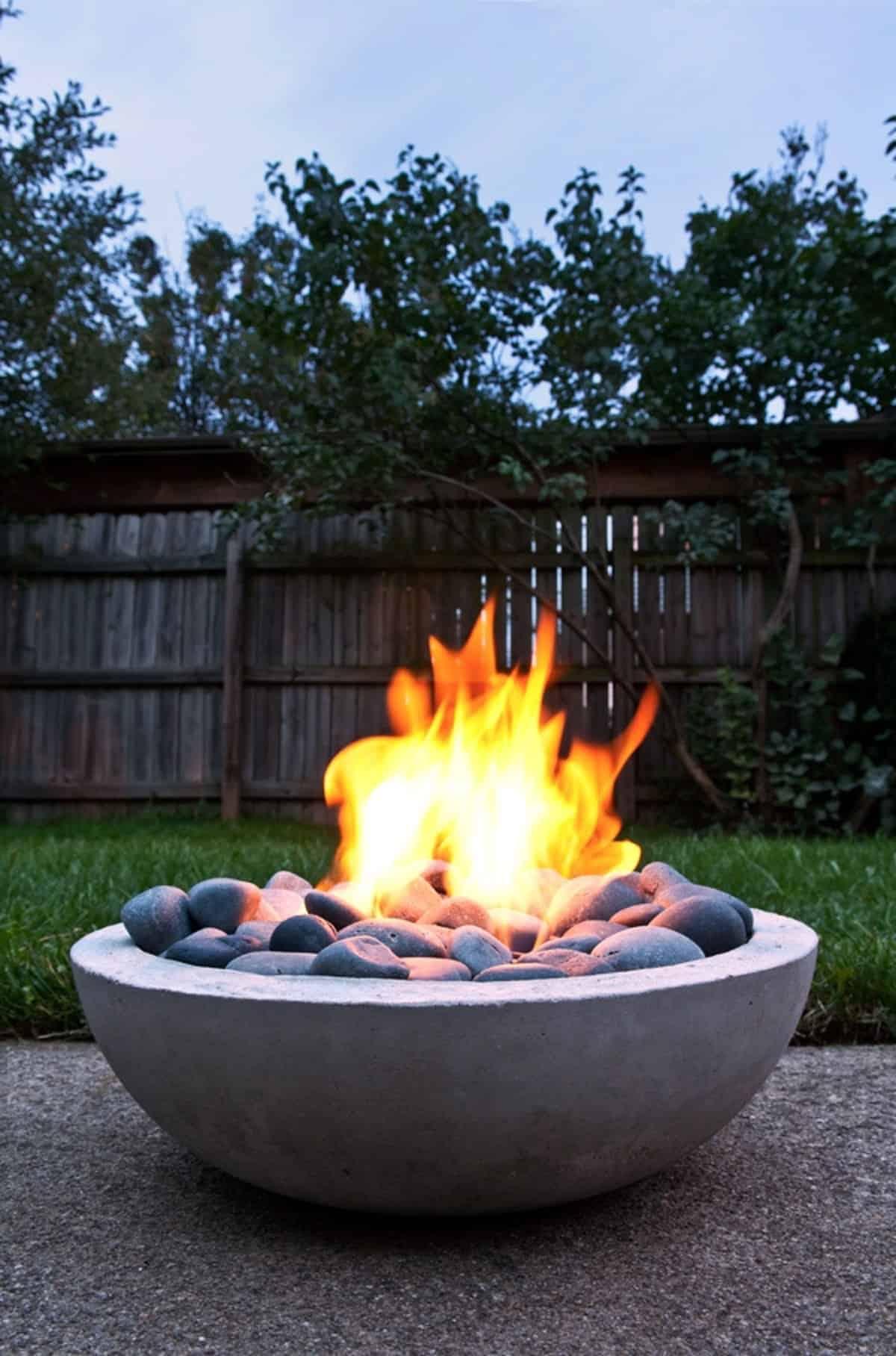 Elegant Concrete Fire Pit
