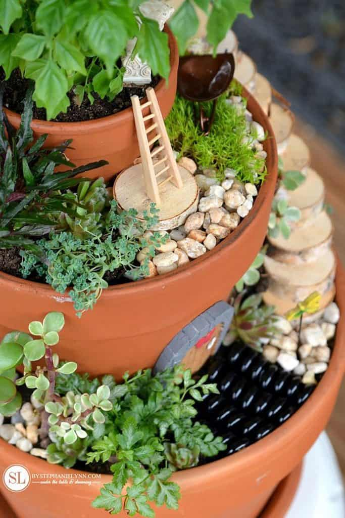 Miniature Garden in Flower Pots