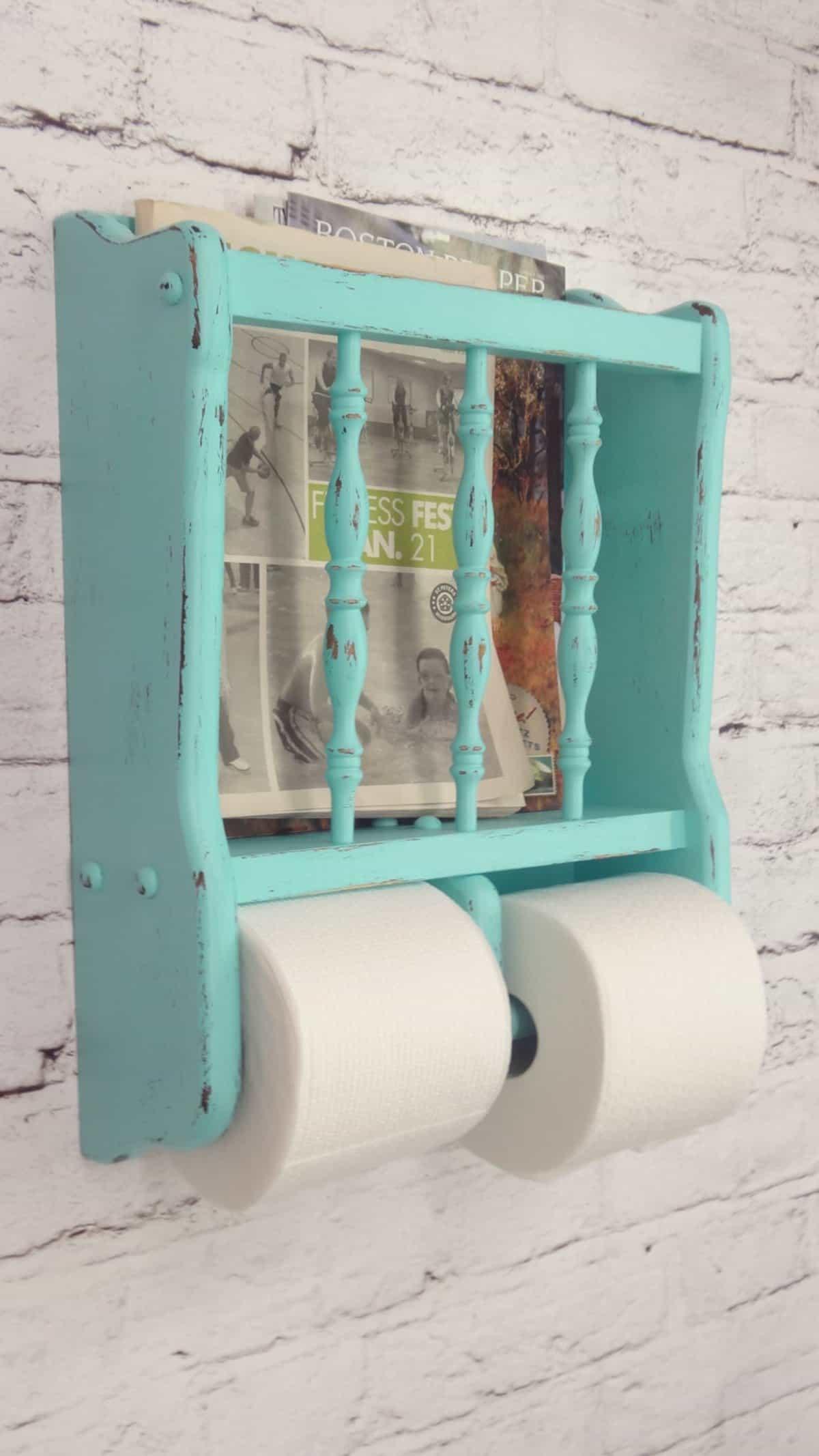 """Shabby Chic Toilet Paper """"Rack"""""""