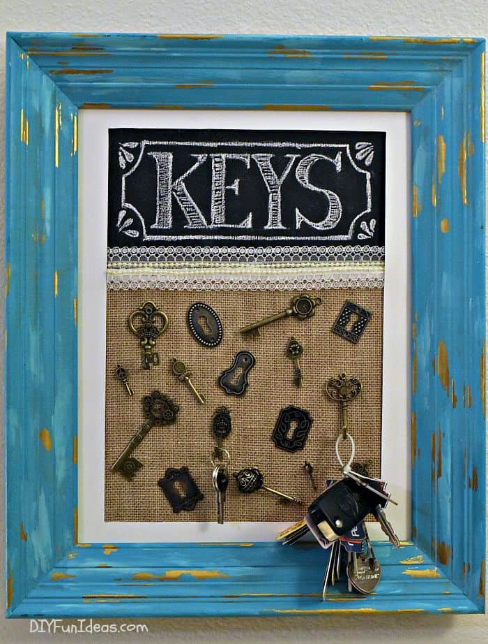 Vintage Key Holder from Old Frame